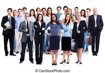Business people group Isolated over white background...