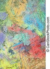 Colorful Textured Chalk Background - an abstract background...