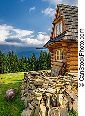 Rustic cottage in the mountains