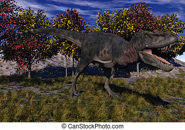 Tarbosaurus Dinosaur - Computer Generated Image Of A...