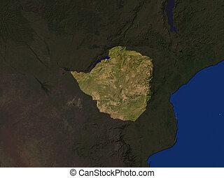 Zimbabwe  - Computer Render Of Zimbabwe Highlighted