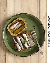 sardine,  sandwich