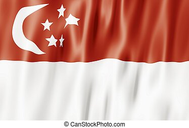Flag Of The Republic of Singapore