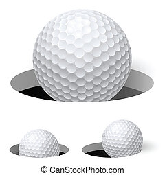 Golf balls Illustration on white background for design
