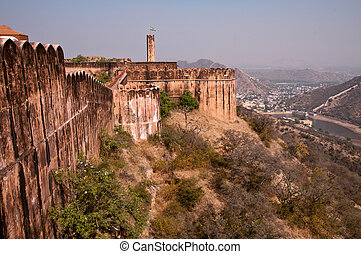 Jaigarh Fort in Jaipur - View from Jaigarh Fort with the...