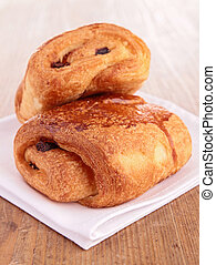chocolate bread, puff pastry