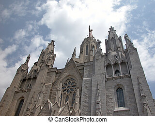 Tibidabo - Barcelona - Sagrat Cor - Sacred Heart Church at...