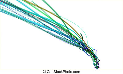 Abstract lines (wire, optical fiber)