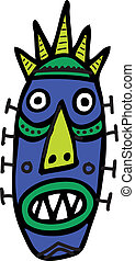 African Mask - Vector Illustration