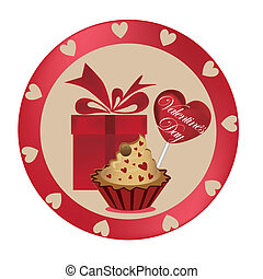 gift with dessert for valentine's day