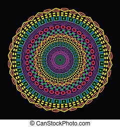 Ethnic mandala - Vector background