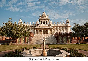 Jaswant thada white temple