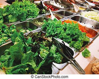 Salad Buffet,vegetarian food.