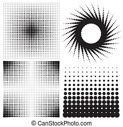 halftones - set of halftones background vector illustration...