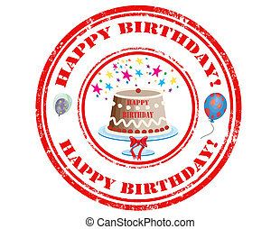 Happy Birthday-stamp