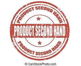 Product second hand-stamp - Grunge rubber stamp with text...