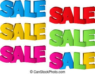 Sale, 3d design