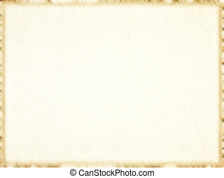 Empty old paper photo frame with dark border.Background. -...