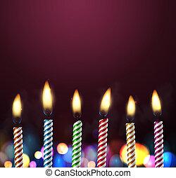 Birthday background with candles, eps 10