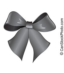 bow on a white background - The figure shows a bow on a...