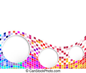 White holes - Vector illustration of white holes on a...