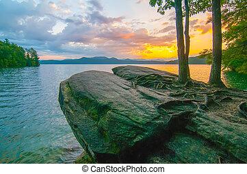 scenery around lake jocasse gorge - nature around upstate...