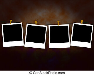 photo - background illustration of some photo frames