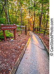 direction to camp grounds - nature around upstate south...