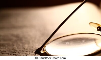 Reading  glass close-up