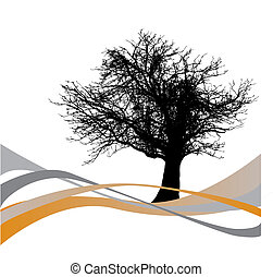 tree, wave vector background