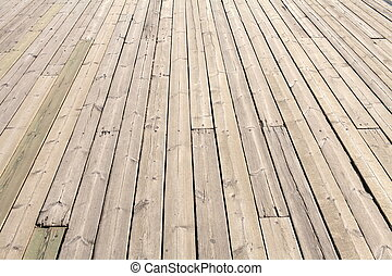 Deck - Old Wooden Planks on Boat Deck