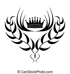 Element for design. crown