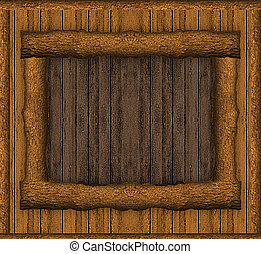 Rustic Wood Art Wall - Rustic wood background with an art...