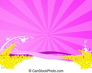 mimosa - Illustration of a mimosa flower for the women\\\'s...