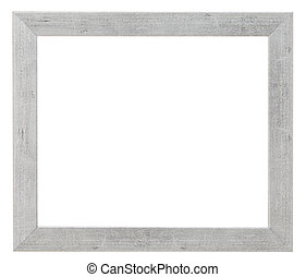 simple flat wide silver picture frame with cutout canvas...