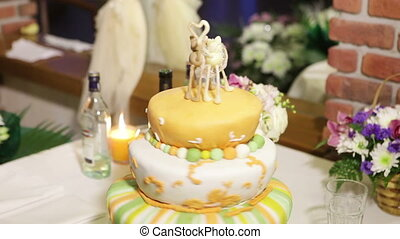 Original cake - Very original cake with figurines of cats