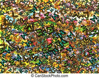 Lots and Lots of Butterflies - An abstract background...