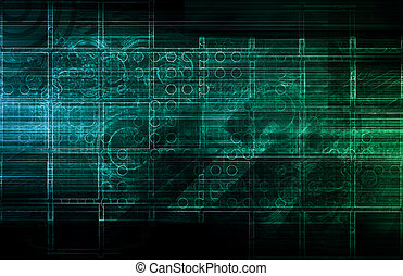 Technology Abstract with Futuristic Lines as Art