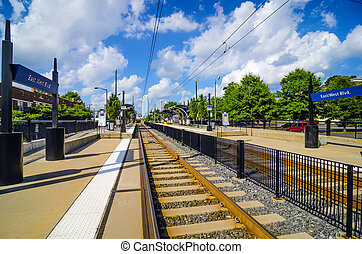 charlotte north carolina light rail transportation moving system