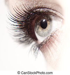 Beautiful woman eye close up