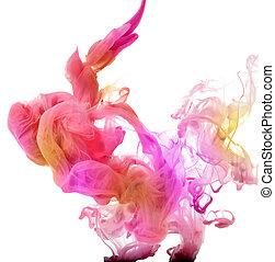 acrílico, cores, água, abstratos, fundo