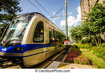 charlotte north carolina light rail transportation moving...