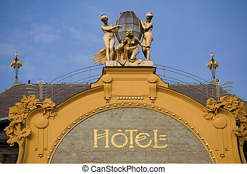 Hotel - Prague hotel in art nouveau style.