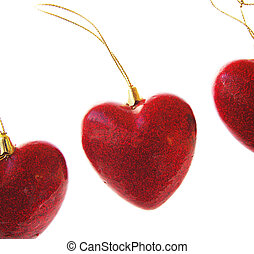 Love and heart - Red hearts on Valentines Day, object...