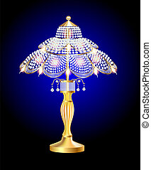beautiful table lamp - illustration of a beautiful table...