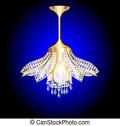 chandelier in the shape of a flower
