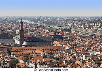 Heidelberg old city panorama view