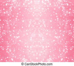 Pink abstract paper design in scrapbooking style for greeting card