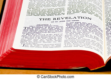 Bible Page - The Revelation - Close up of The Revelation...