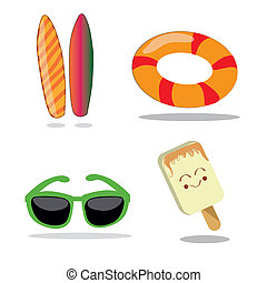 four items for summer - four different items related to...